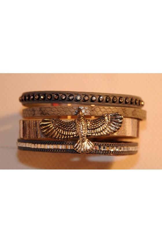 Armband, Magnet-Armband, grau