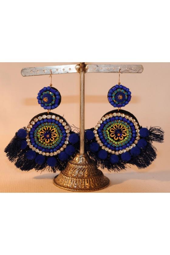 Ohrringe, Ohrhänger, blau