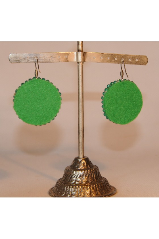 Ohrhänger, Ohrringe, grün
