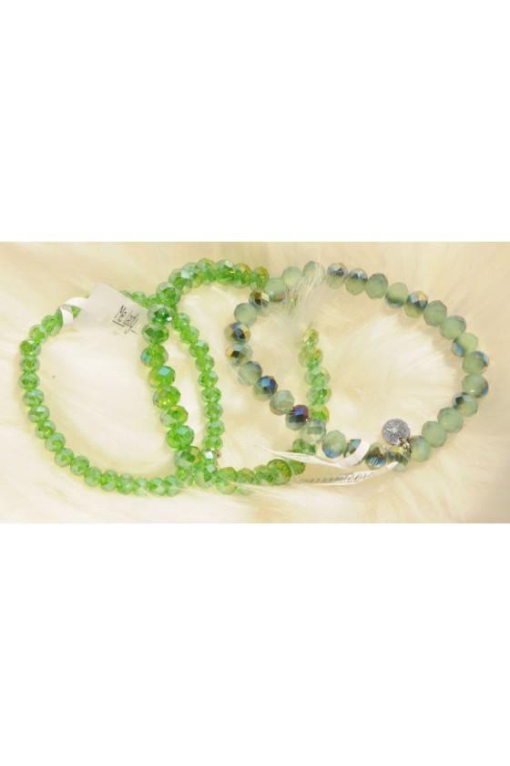 Armband, 3-teilig, grün...