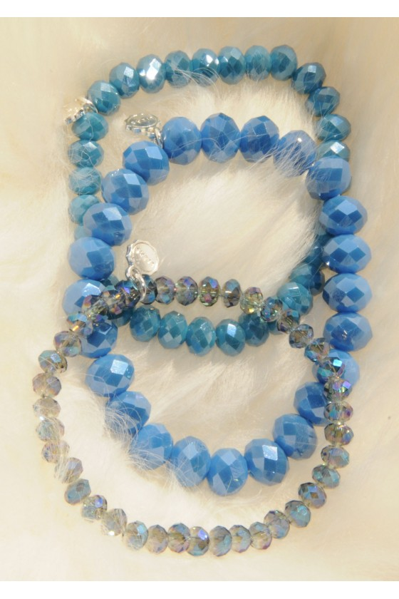 Armband, 3-teilig, blau