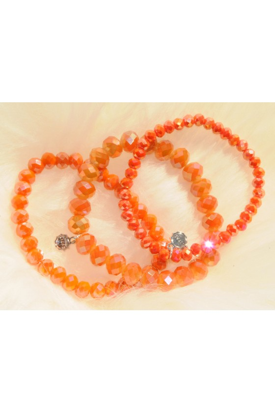 Armband, 3-teilig, orange...
