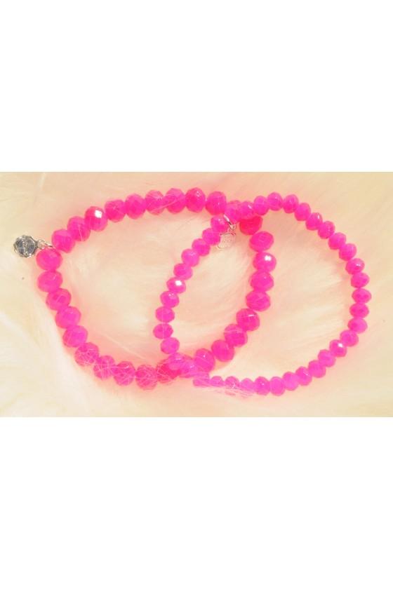 Armband, 2-teilig, pink
