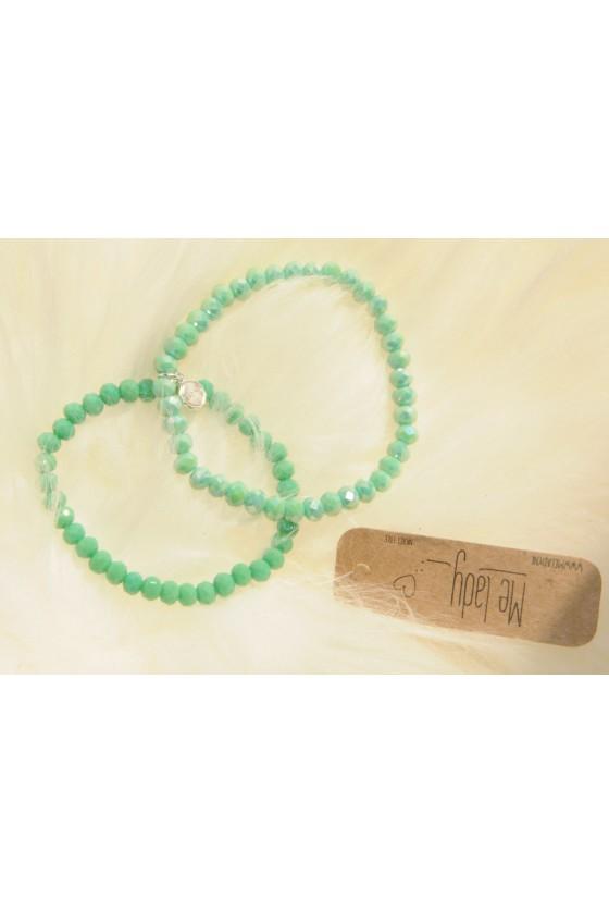 Armband, 2-teilig, grün...