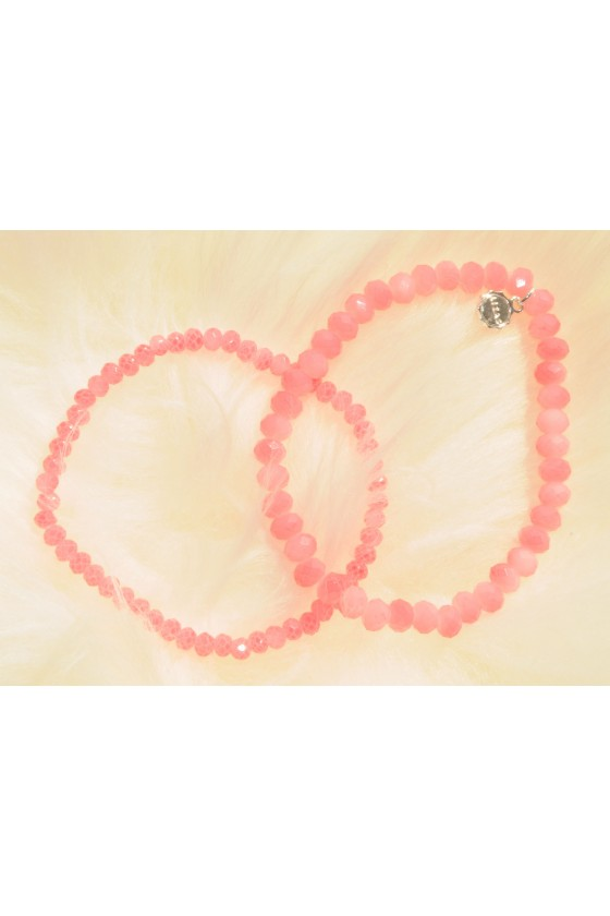 Armband, 2-teilig, rosa