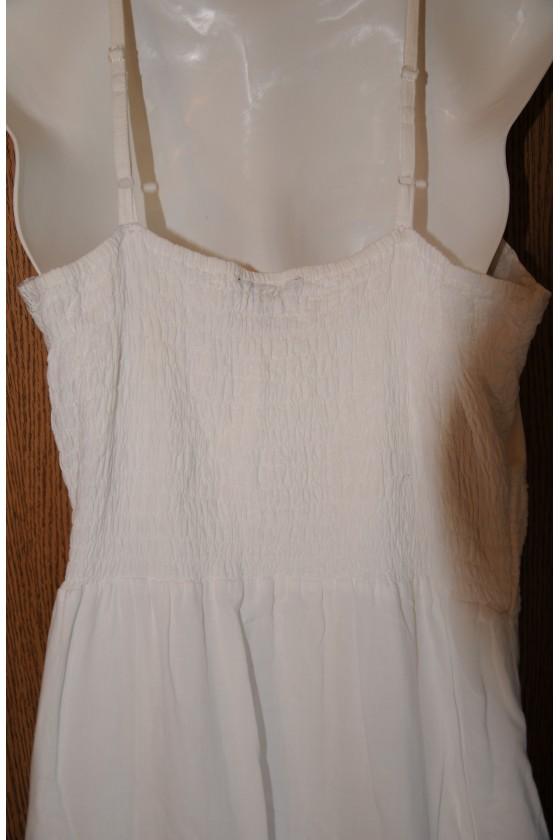 Kleid, Trägerkleid, weiß