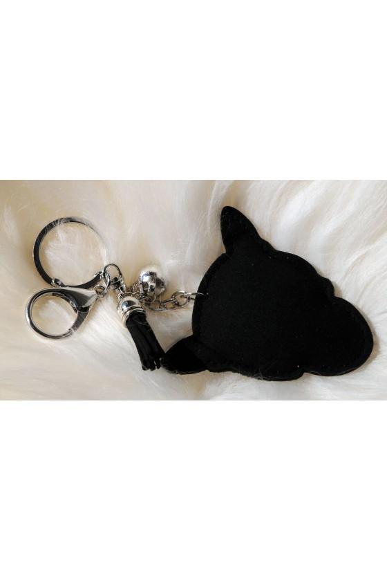 Schlüsselanhänger, Anhänger, schwarz, Tiger