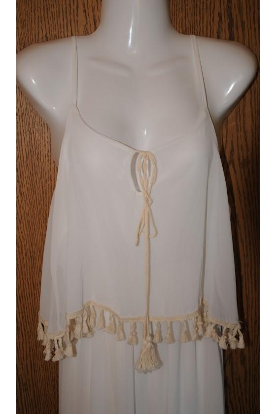 Trägerkleid, Kleid, offwhite, lang