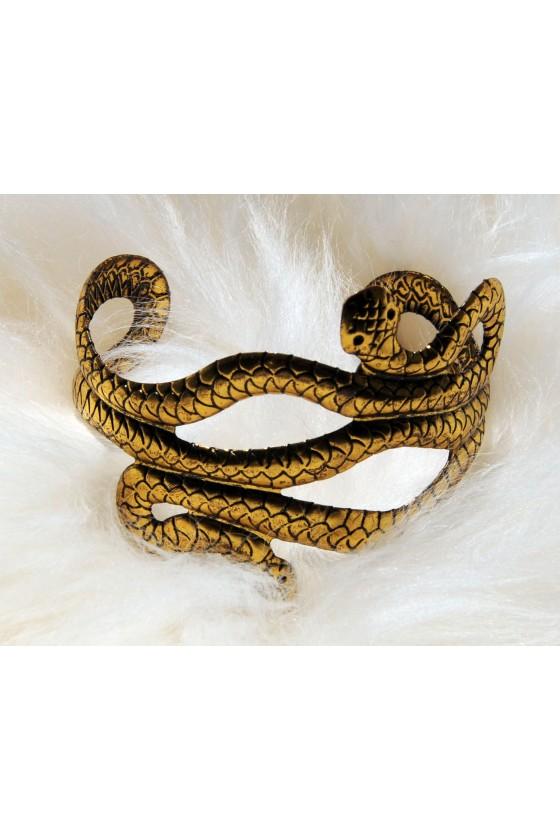 Armspange, gold, Schlangenoptik