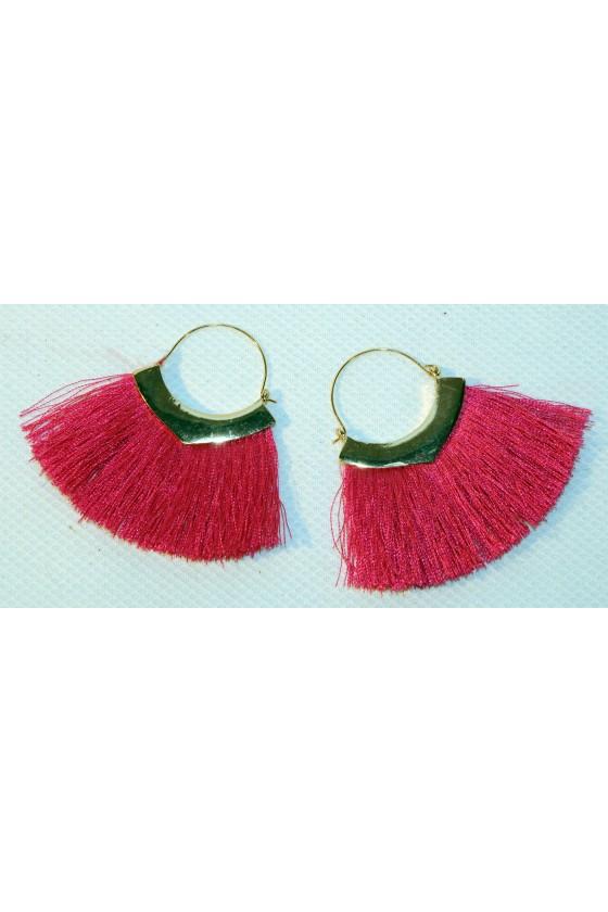 Ohrringe, Creolen, pink