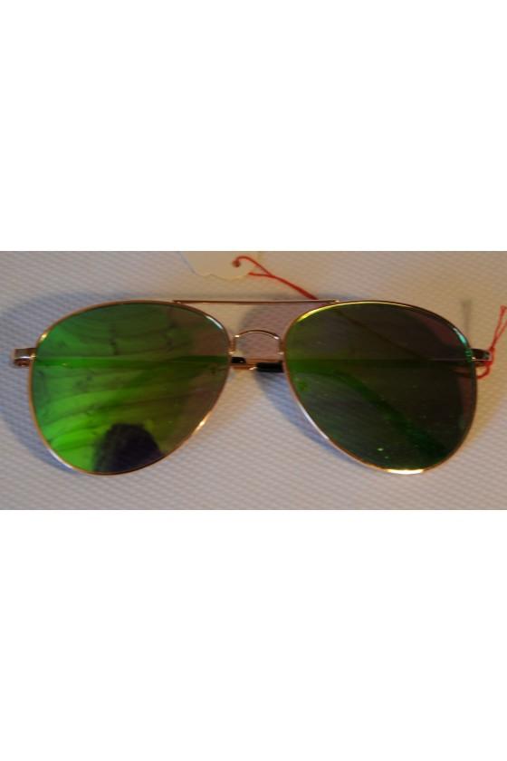 Sonnenbrille, grün metallic