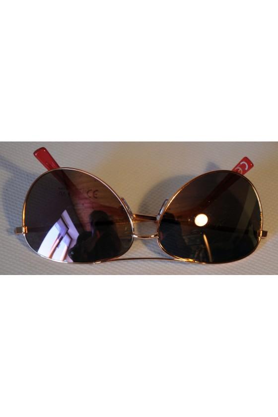 Sonnenbrille, pink metallic