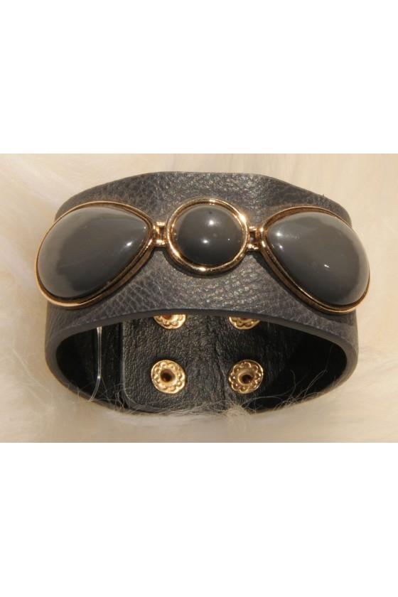 Armband, grau/gold,...