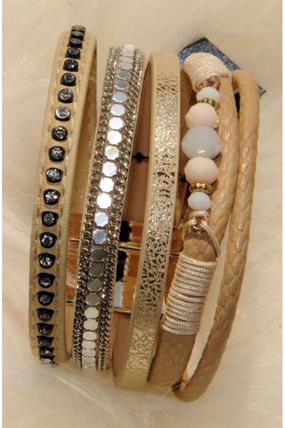 Armband, Echt Leder,...