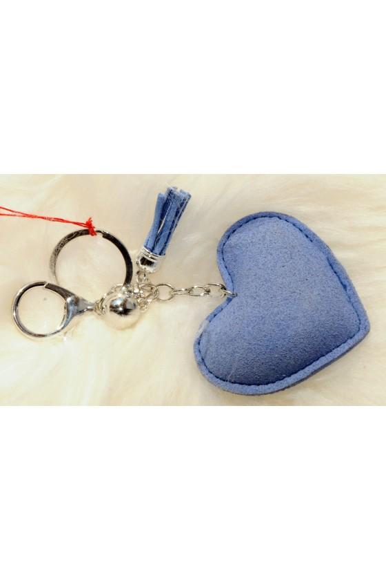 Schlüsselanhänger, Anhänger, blau, Herz