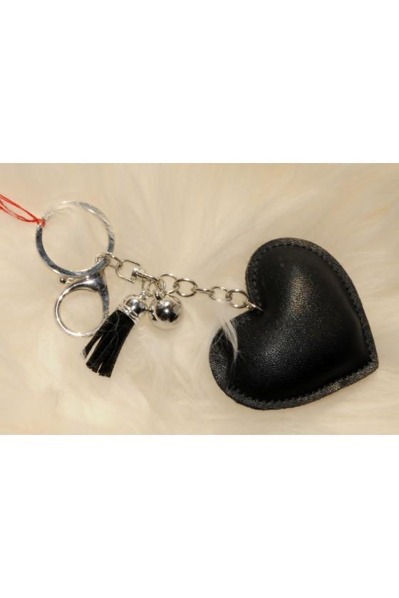 Schlüsselanhänger, Anhänger, schwarz, Herz