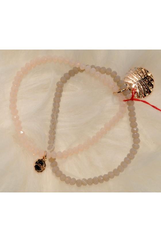 Armband, beige/rosa