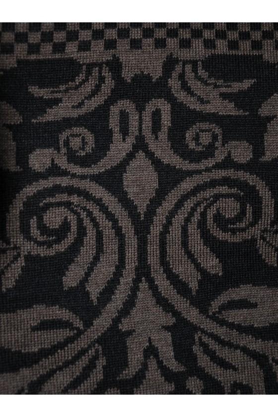 Dreieckstuch, Art, en Laine, schwarz/braun, Versailles