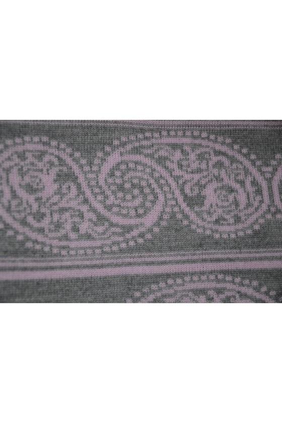 Dreieckstuch, Arte en Laine, dunkelrosa/grau, Paisley
