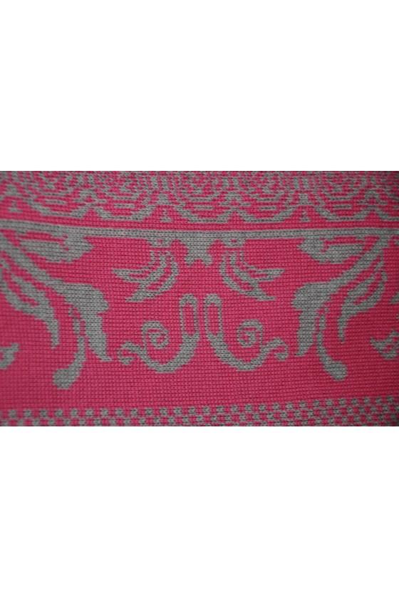 Dreieckstuch, Art en Laine, pink/silber, Anna
