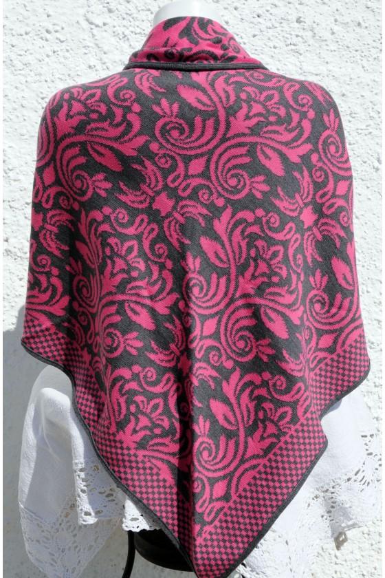 Dreieckstuch, Art en Laine, pink/asphalt, Versailles