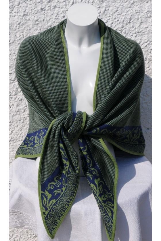 Dreieckstuch, Art en Laine, blau/grün, Anna