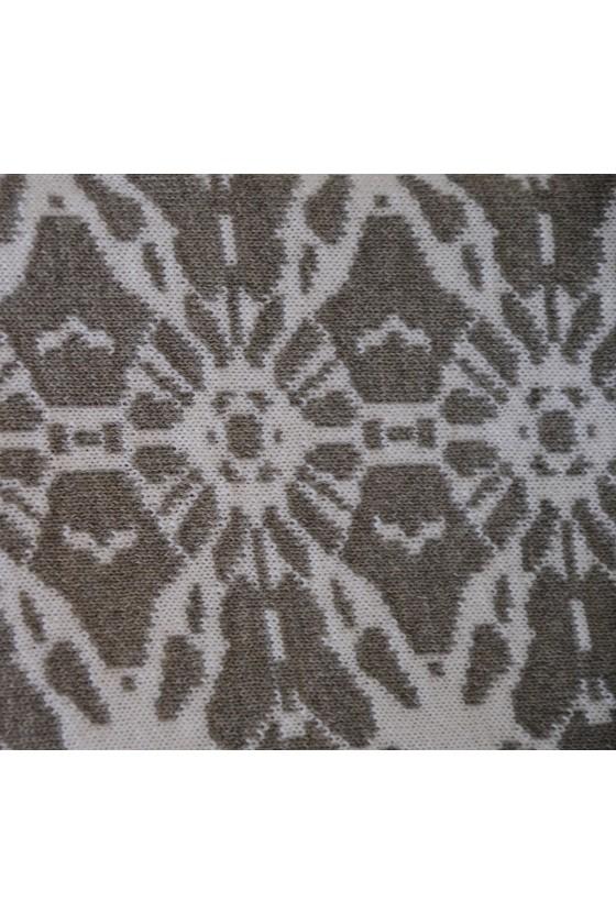 Dreieckstuch, Art en Laine, weiß/grau, Ornamentrand