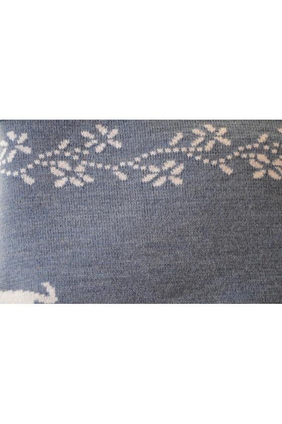 Dreieckstuch, Art en Laine, jeans/silber, Hirsche
