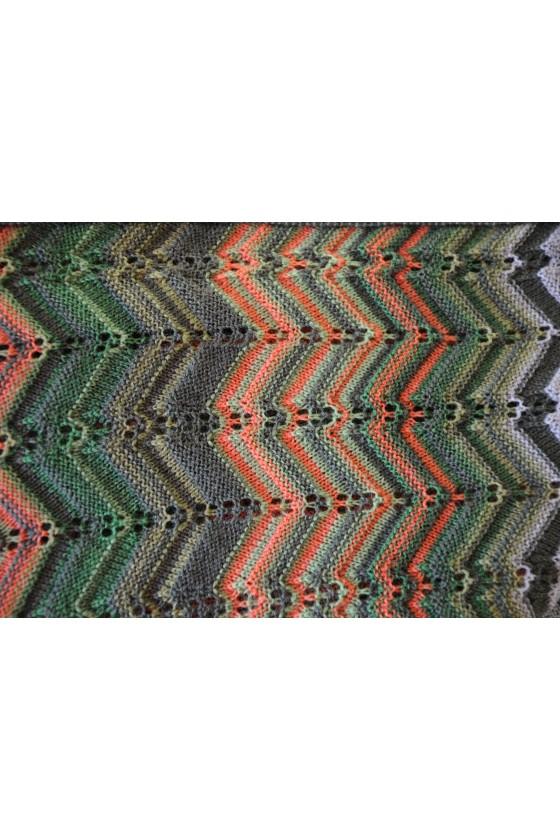 Dreieckstuch, Art en Laine, grün multicolor, Zora
