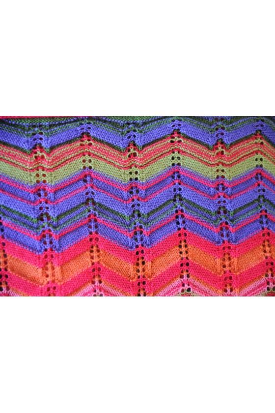 Dreieckstuch, Art en Laine, pink multicolor, Zora