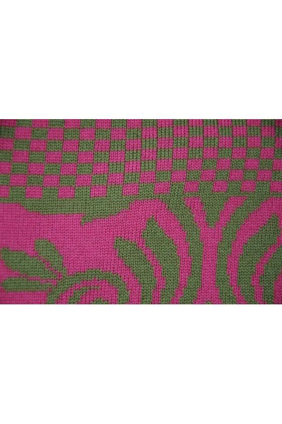 Dreieckstuch, Art en Laine, pink/grün, Versailles