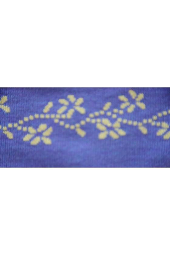 Dreieckstuch, Art en Laine, blau/grün, Hirsche