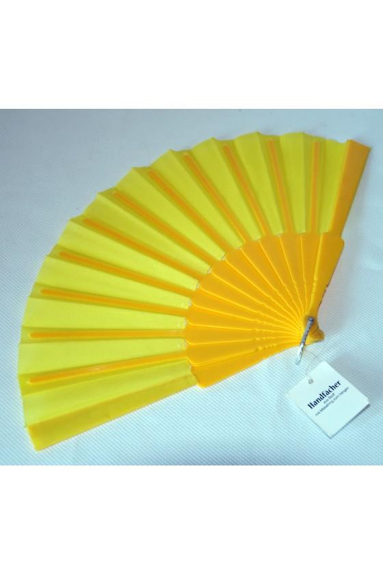 Fächer, Kunststoff, Textil, gelb
