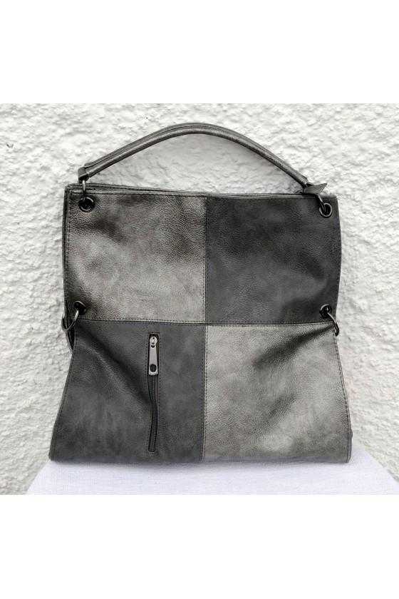 Tasche, Umhängetasche, silber/grau, Kunstleder