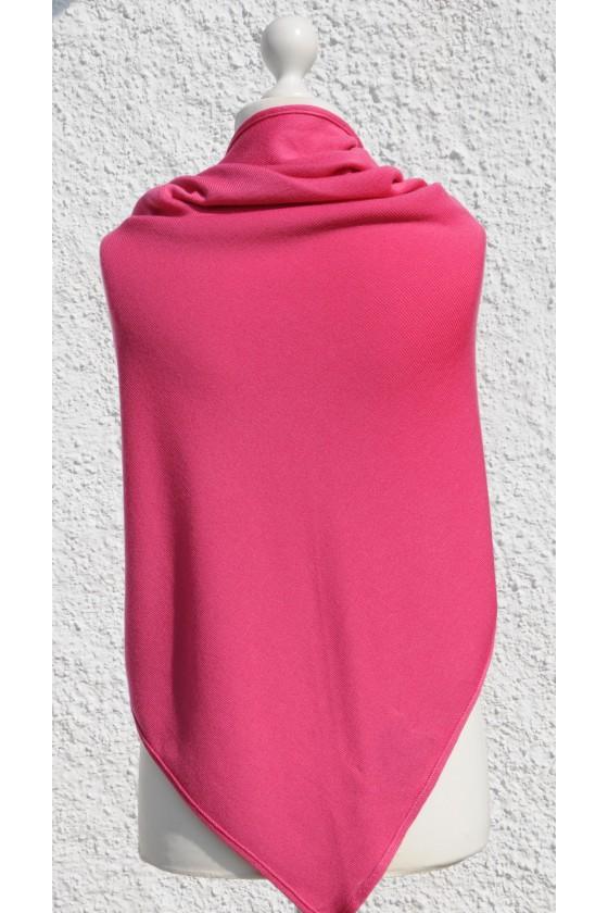 Dreieckstuch, Art en Laine, pink, Zopfmuster