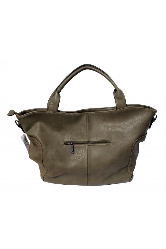 Tasche, Umhängetasche, Shopper, Kunstleder, khaki