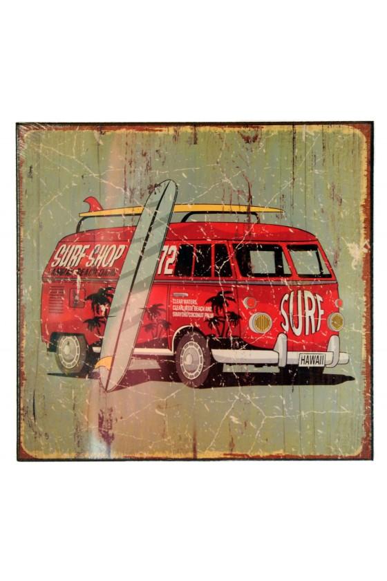 Schild, VW-Bus, grün/rot