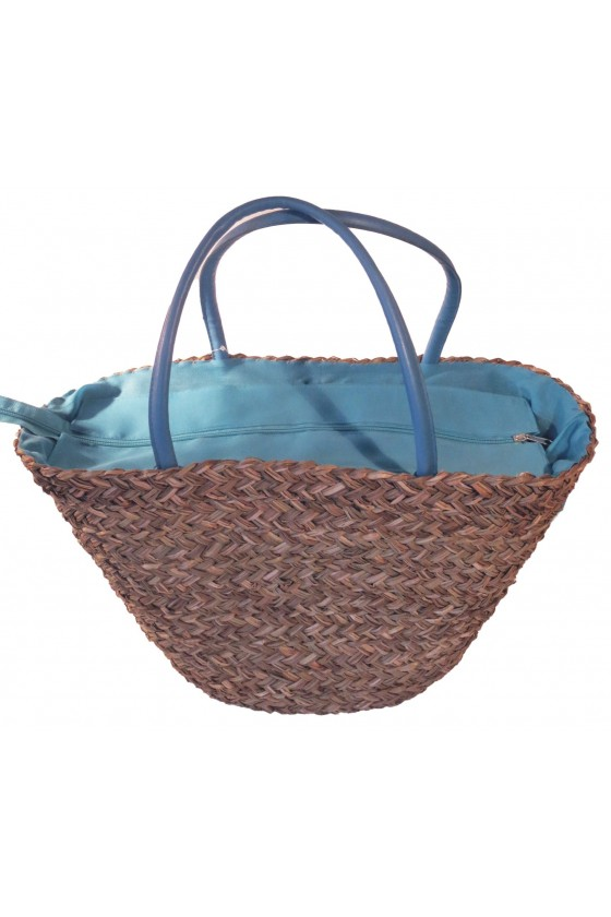 Strandtasche, Henkeltasche, Tasche, natur/türkis