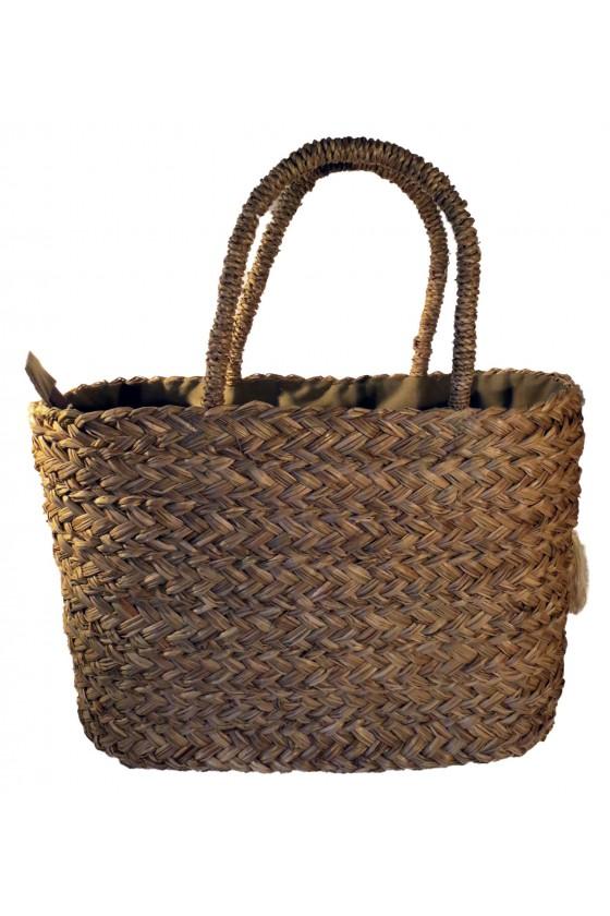 Strandtasche, Henkeltasche, Tasche, natur/creme