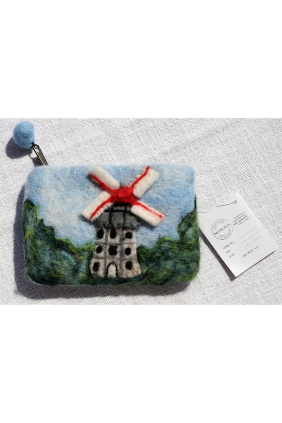 Filztasche, 100 % Wollfilz, Windmühle, Fair Trade