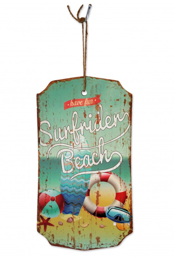 """Schild, """"Sunfrider Beach"""",..."""