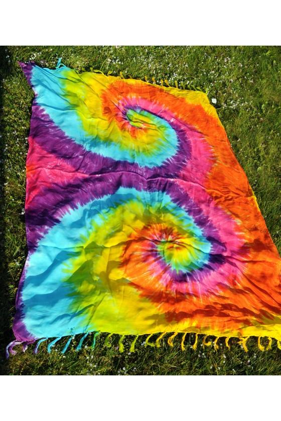 Pareo, Batiktuch, Strandtuch, multicolor, gelb/orange/türkis/lila/pink