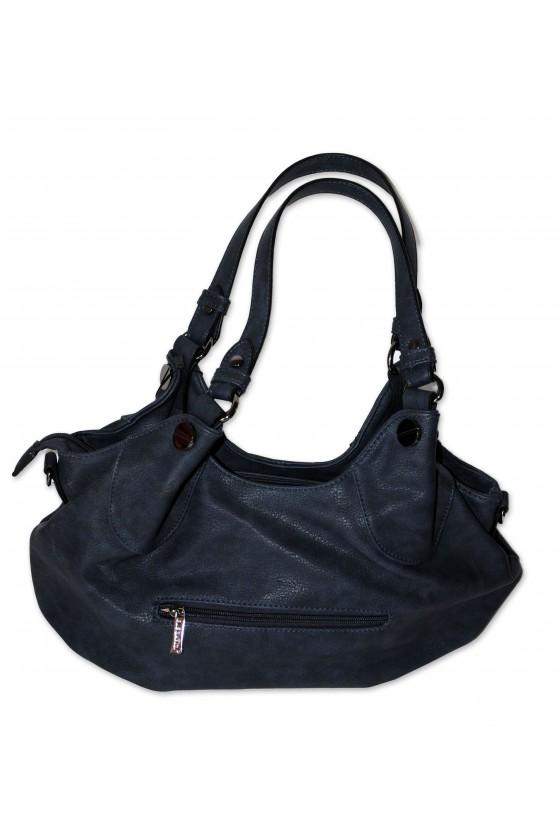 Tasche, Umhängetasche, Kunstleder, dunkelblau