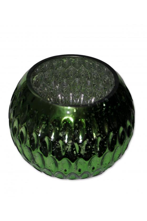 Windlicht, Glas grün, innen...