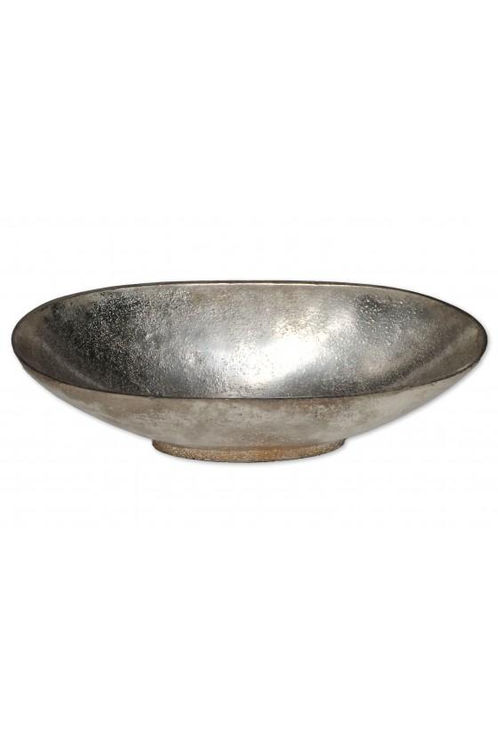 Schale, Aluguss, oval