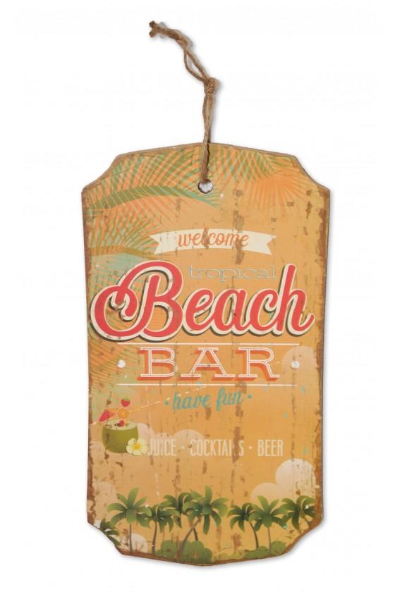 Schild, Beachbar, zum...
