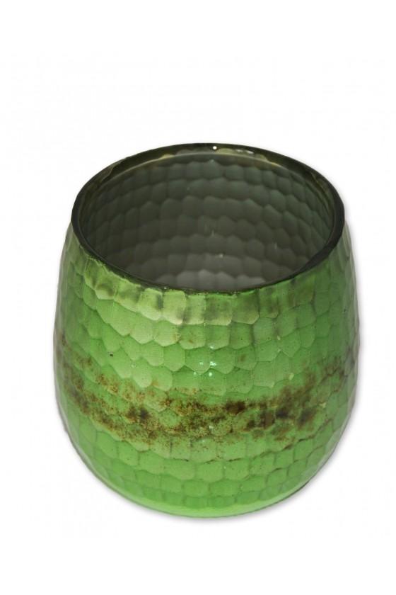Windlicht, Glas, grün,...
