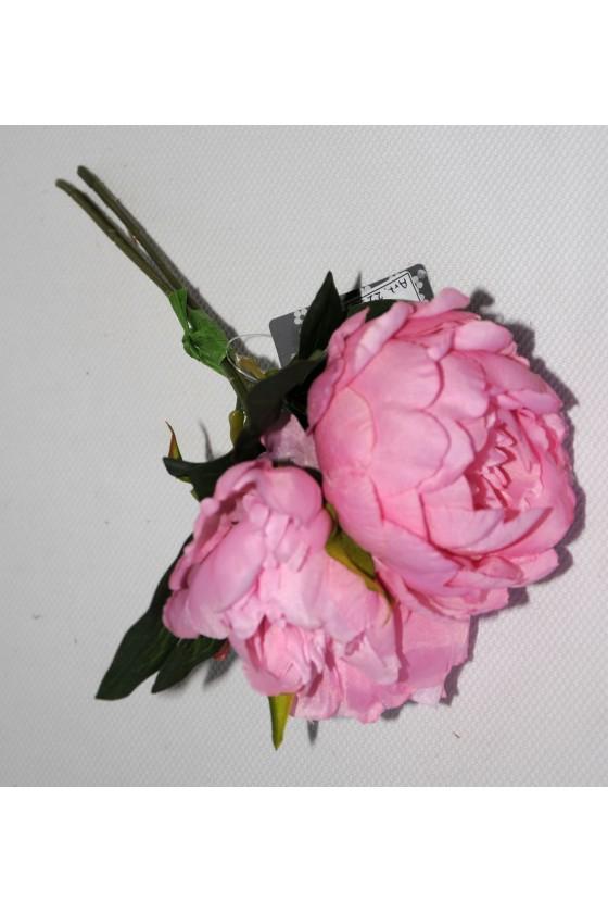 Pfingstrosenstrauss, Pick, 3-er Bund, rosa