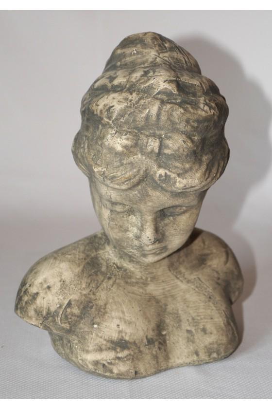 Büste, Frauenbüste, Keramik, grau