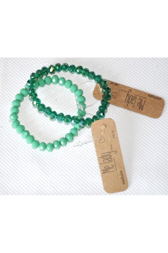 Armband, 2-reihig, türkis